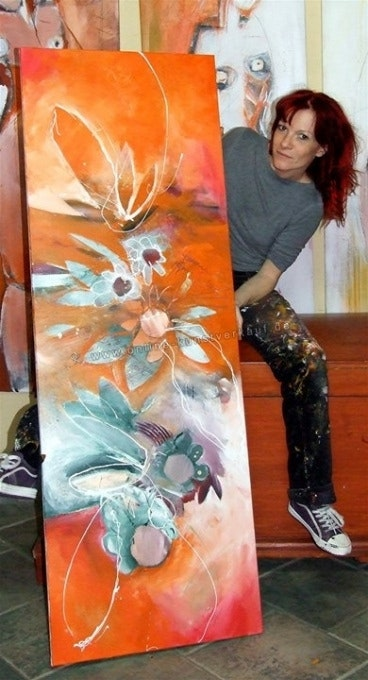 Poesie, Blumen, orange, flowerpower, harmonie. Conny Niehoff Ynnoc