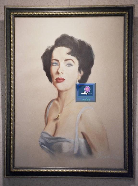 Retrato de Elizabeth Taylor. Isabel Pradilla Isabel Pradilla