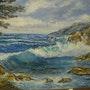 Marine : «après l'orage» - Fafrégas - un coin de plage (83500 La Seyne Sur Mer). Catherine Bauduin