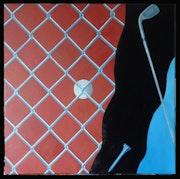 Prisión dorada del tema de la pasión de golf # 1.