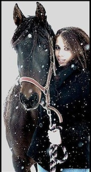 The girl and her horse, they are one!.