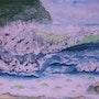 Une vague bleue. Ghislaine Phelut
