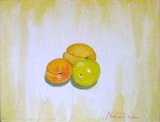 Fruits d'été - acrylique sur toile. Natalina