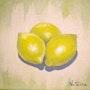 Limones - acrílico sobre lienzo. Natalina