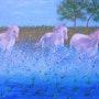 Les fougueux chevaux de Camargue. Ghislaine Phelut