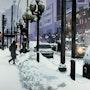 Ny sous la neige. Clotilde Nadel