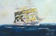 Le Herzogin Cécilie voilier de quatre mats.