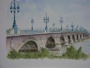 Le Pont de Pierre à Bordeaux..