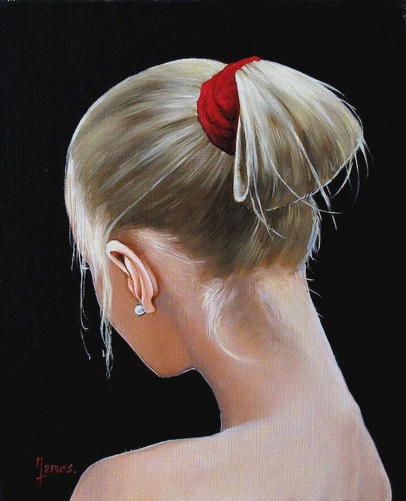 Jeune femme avec une perle. Maire James James