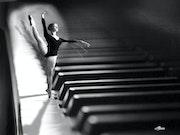 La danseuse au piano.