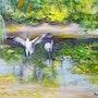 Las grúas en el río. Annie Mary