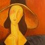 Copie - Jeanne Hébuterne au grand chapeau de Modigliani. Mimi