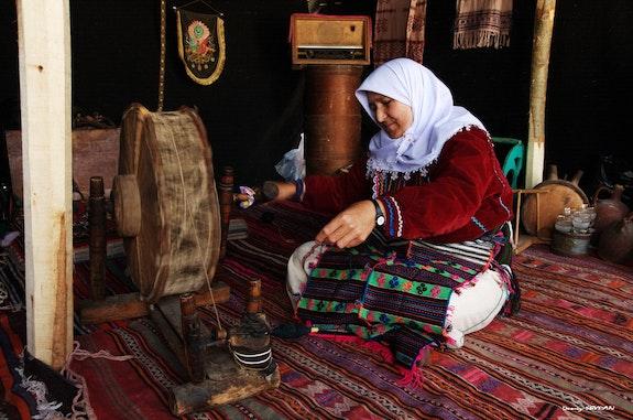 The rope spinner woman..  C. Deniz Seyran