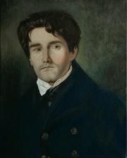 Portrait de Léon Riesener d'après une oeuvre d'Eugène Delacroix.
