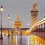 L'Esplanade des Invalides la nuit. Thierry Duval