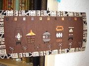 Tableau ethnique, réalisé à la main. Maria Gely