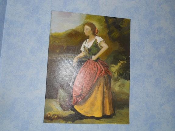 La jeune fille au puit. Jean Baptiste Corot Reproduction Monika. S Monika. S (Mélusine De Bretagne - Jeanne La Maréchale)