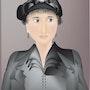«Rebecca» Digital painting on Canvas. Leslie Frank Hollander