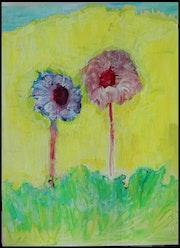 Deux fleurs.