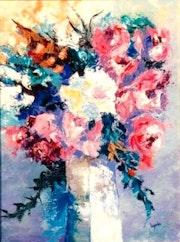 1 Le vase blanc 12p 61x46 huile 427€.
