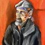 Portait of a homeless man. Art By Alan