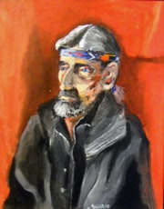Portait of a homeless man.