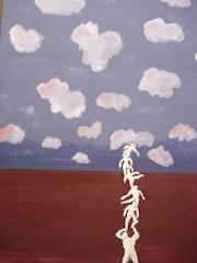 Bild 7 einer Serie von 8 Bildern (60x80) zum Thema «Frauen-Männer». Peter Rudolf Müller