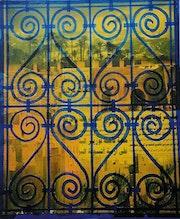 Chaleur de marrakech, collages et acrylique. Régis Martin