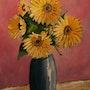 Vase de fleurs.