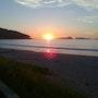 Foto de una puesta de sol en Finisterre. M. Pilar