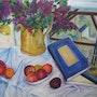 Lilas et fruits. Guy Buecher