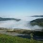 Paisaje, con niebla en Galicia. M. Pilar