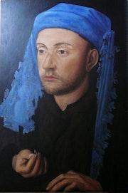 L'homme au chaperon bleu d'après Van Eyck.