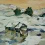 Ferme sous la neige. Arlette Cotella