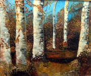 The fawn or birch forest in autumn.