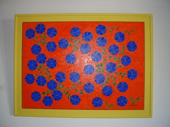 Blaue Blume. Sergegovitch Sergegovitch