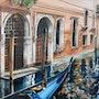 Reflections and gondola. Houmeau