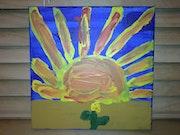 Von meinem Sohn. Titel:Entdecke die Kraft der Sonne.