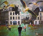 Après le réchauffement : Plage Fontette à Caen..