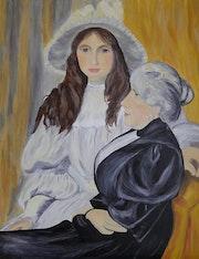Portrait de Berthe Morisot et sa fille. Anna Cieslik