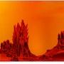 «Landscape on Red Planet» Digital painting on canvas. Leslie Frank Hollander