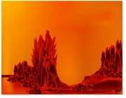 «Landscape on Red Planet» Digital painting on canvas.