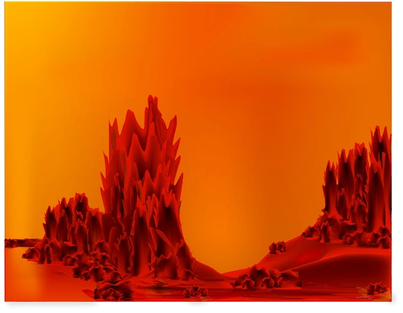 «Landscape on Red Planet» Digital painting on canvas. Leslie Frank Hollander Leslie Frank Hollander
