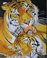 Tigresse et bébé.