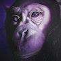 Chimpanzé violet. Vanessa Moinier