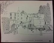 Chateau de Beaufort (Luxembourg).