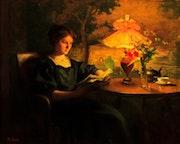 Jeune femme à la lecture. Walter Kiwior