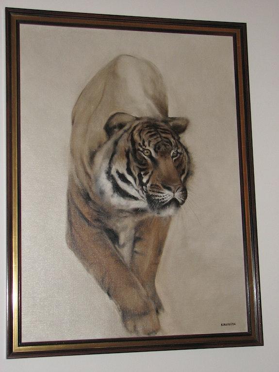 Stéphane dufraisse (né en 1953) «le tigre». Stéphane Dufraisse (Né En 1953) La Galerie d'Alexandre