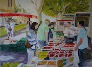 Provencal market in Aix.