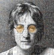 John Lennon Orange Glasses. Isabelle Pozzi